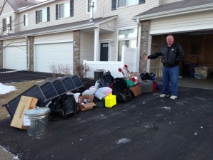 Driveway filled with stuff!