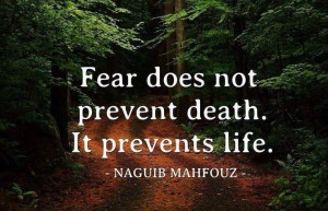 fear prevents