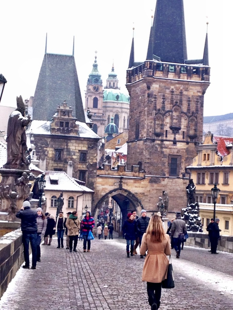 walking around Prague