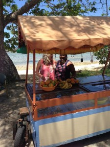 Betsy and Pravina at her roadside cart