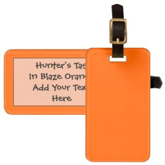 Hunters Blaze Orange Tag For Luggage and Gun Cases