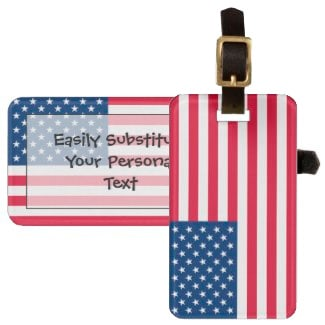 Patriotic Flag of the United States Bag Tag