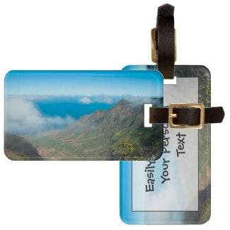 Kauai Na Pali Coast From Kokee Luggage Tag