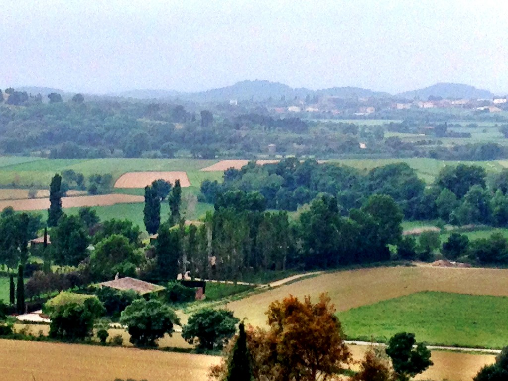 Landscape of L'Empordà amidst medieval villages