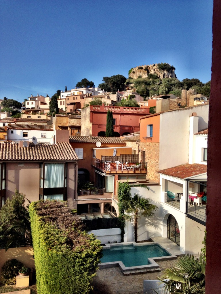 view of begur from hotel aiguaclara