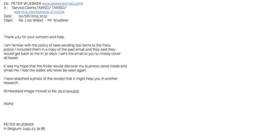 Taxi Email 1