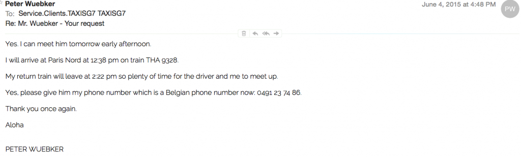 Taxi Email 5
