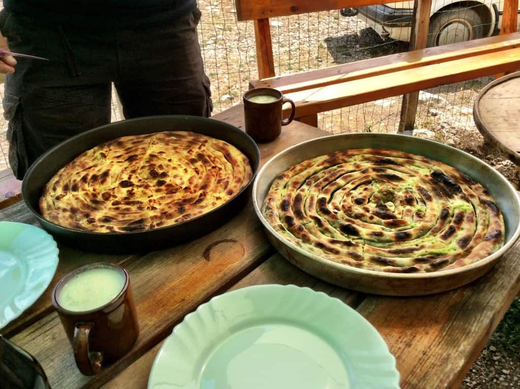 Burek served at Lukomir - the most remote village in Bosnia