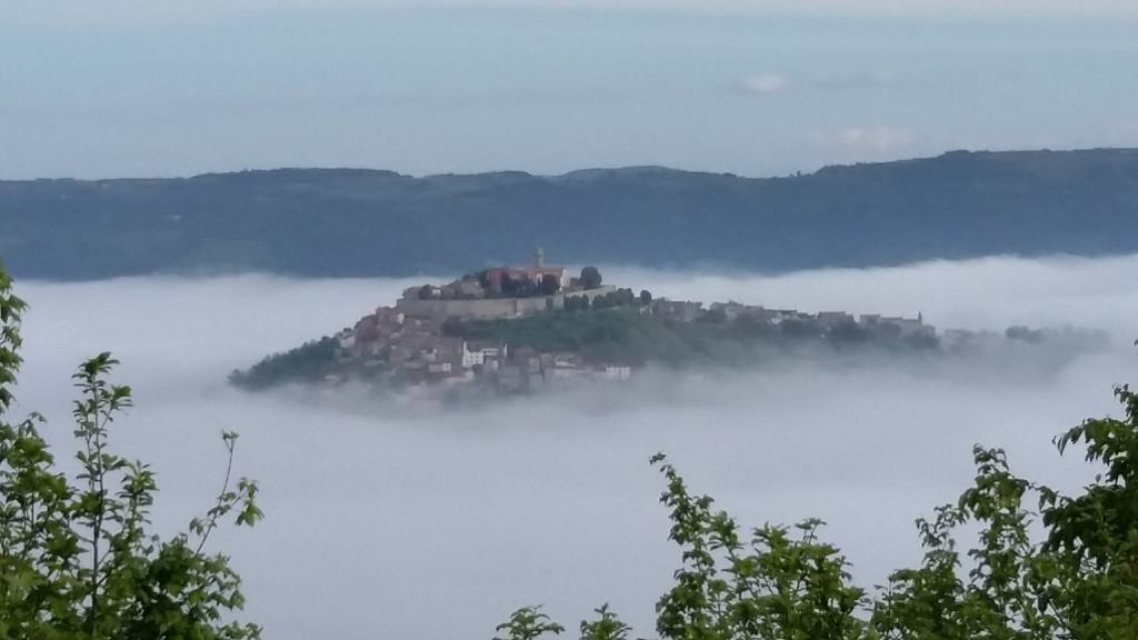 Motovun in the clouds