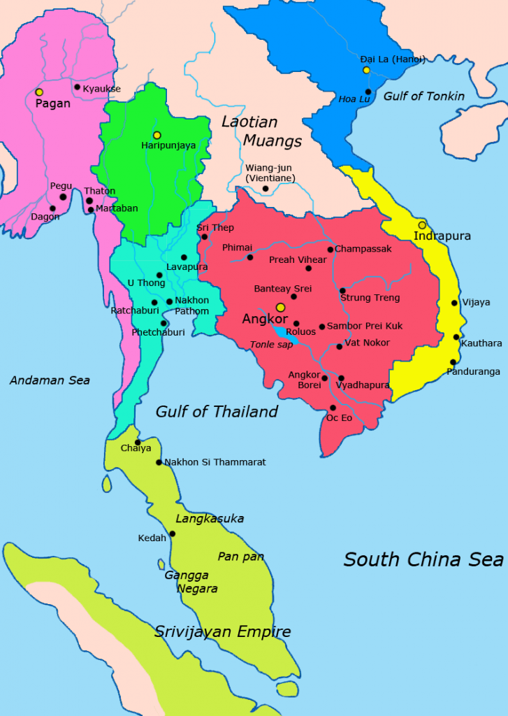map of se asia 1000-1100