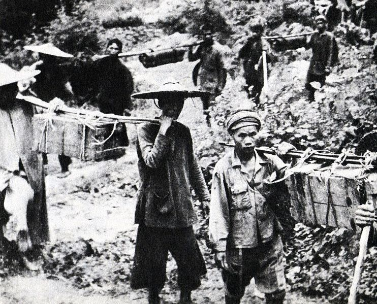 Lao and Vietnamese used the Ho Chi Minh Trail from its inception. Image in the Public Domain via Wikipedia, ca. 1959