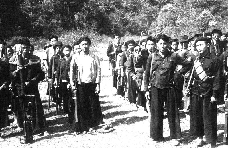 Hmong tribesmen guerilla fighters