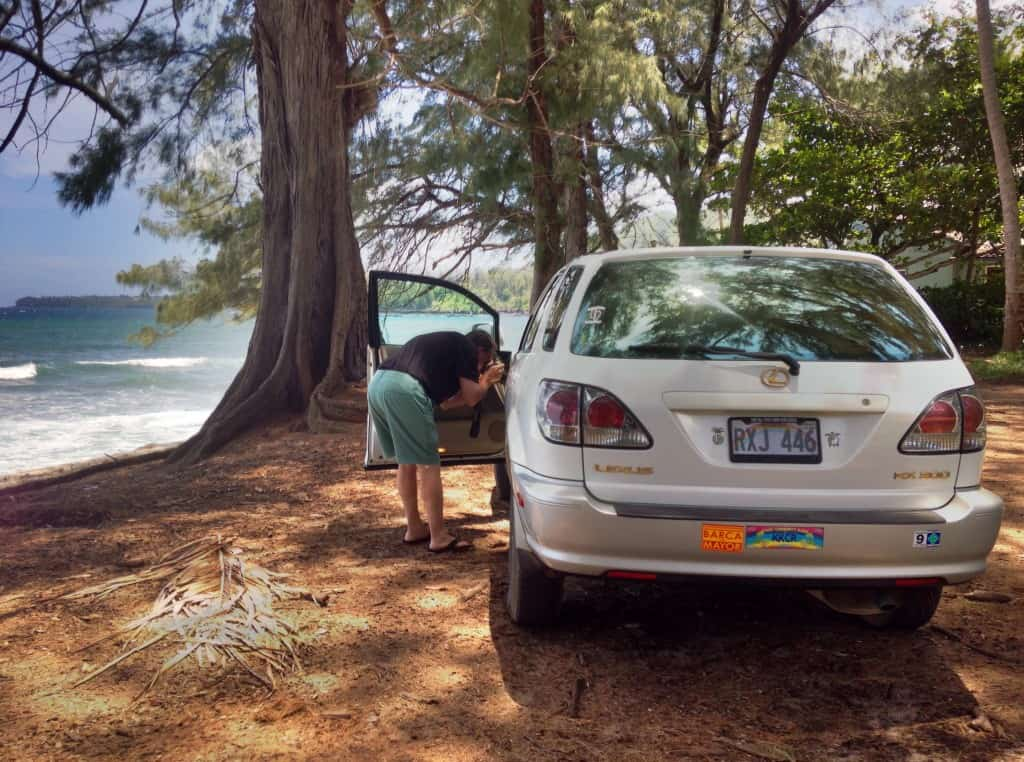 moving to kauai, parked at haena