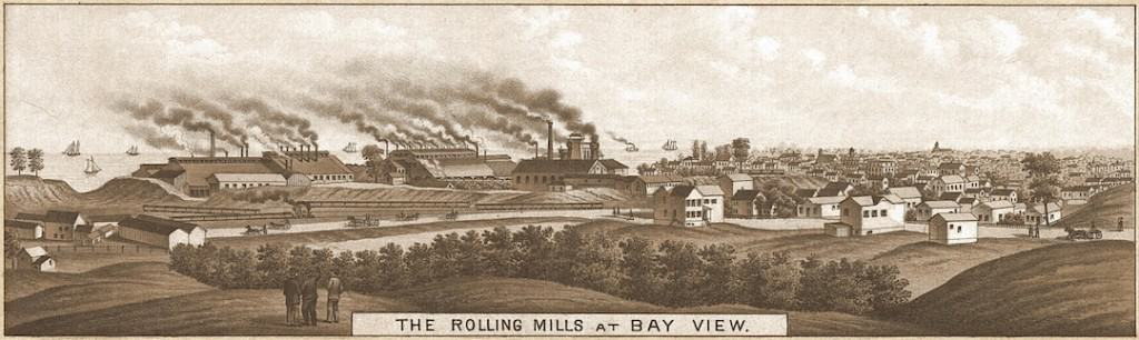 Rolling Mills at Bay View Milwaukee 1882