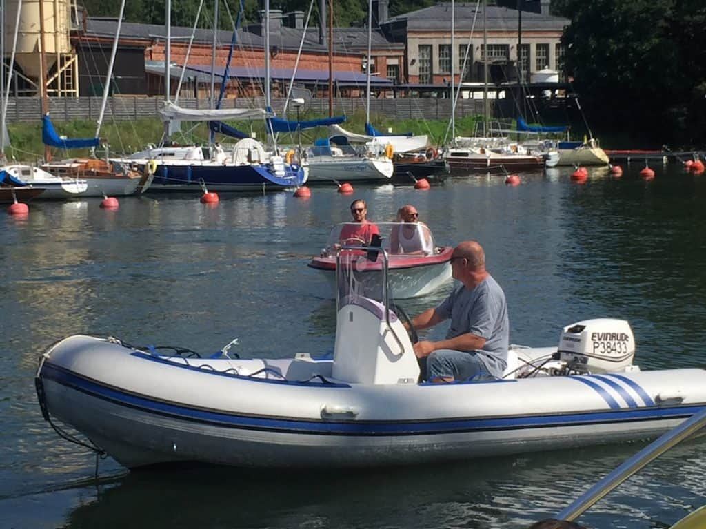 Our friend, Ismo, docks his boat at the Suomenlinna harbor