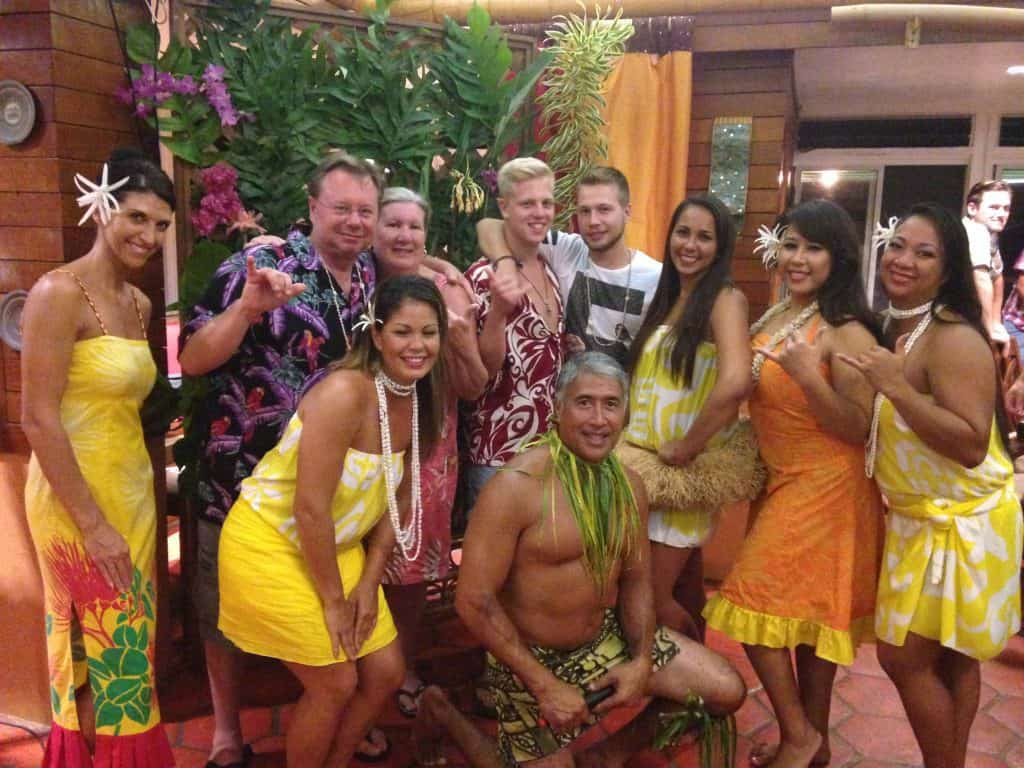 Fun with Dancers and Guests at Luau
