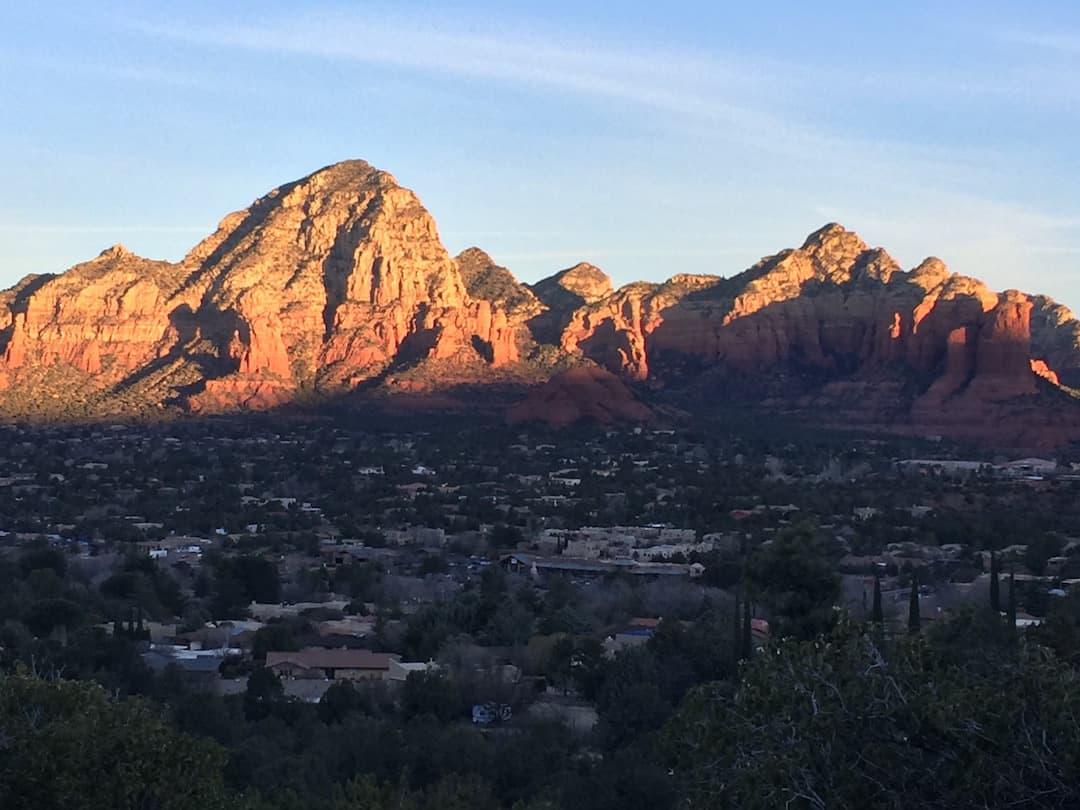 Sedona sunrise view