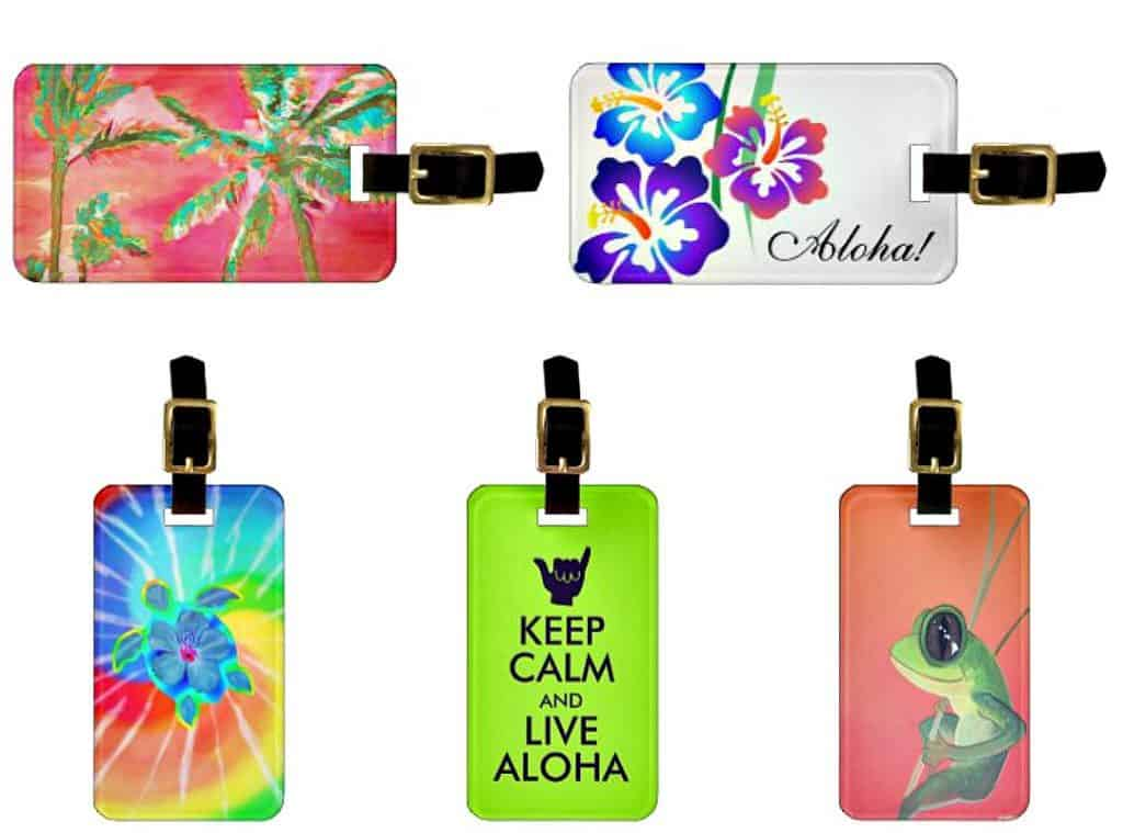 hawaiian luggage tags