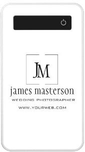 Modern Business Monogram Minimalist Logo Power Bank