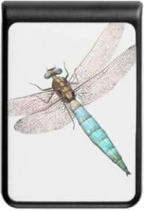 Digital Dragonfly on White Power Bank