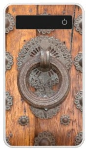 Knocker on Ancient Spanish Wooden Door Power Bank