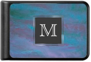 Monogram Blue Purple Teal Pastel Power Bank