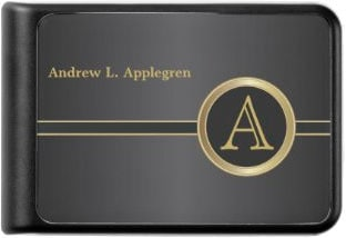 Name and Monogram Classic Black Power Bank