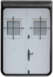 White Wooden Door With Black Wrought Iron Works 10400 mAh Power Bank