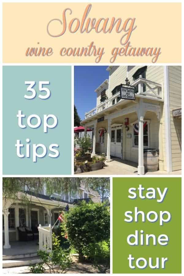 Solvang California USA easy weekend wine country getaway #travel #usa #california #solvang #traveltips
