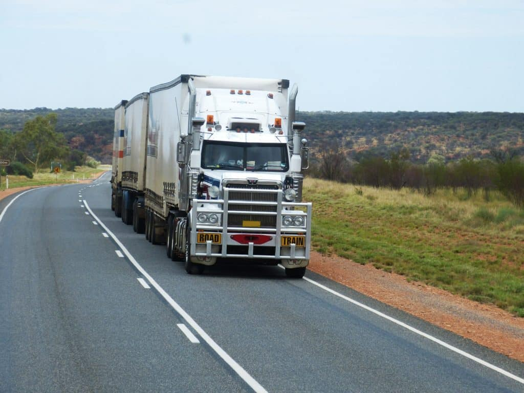 road trip in Australia will encounter road train