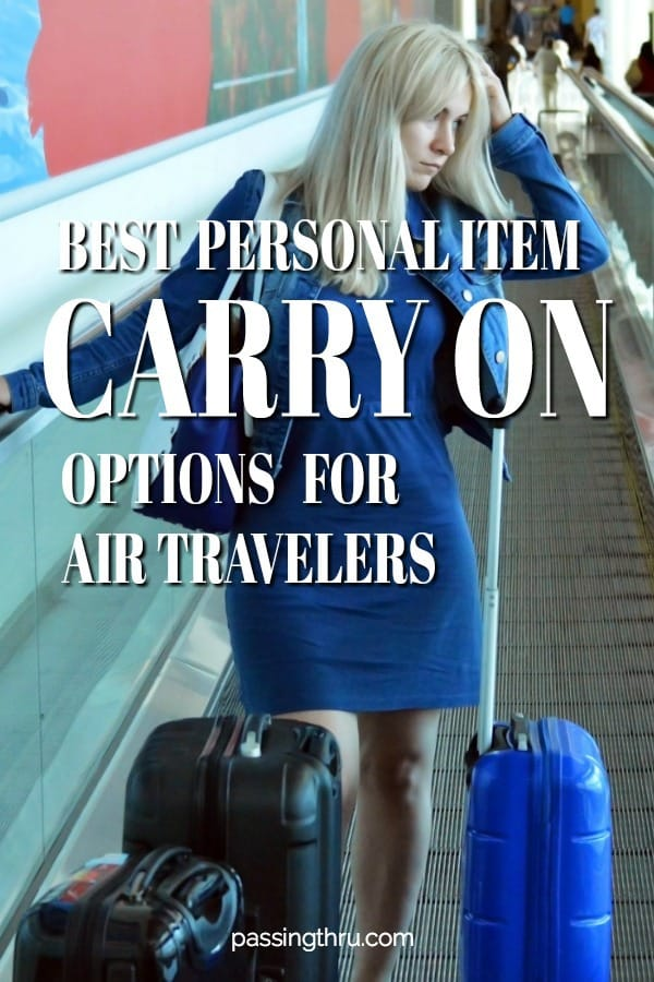 Choosing The Best Personal Item Bag for Travel by Air Today