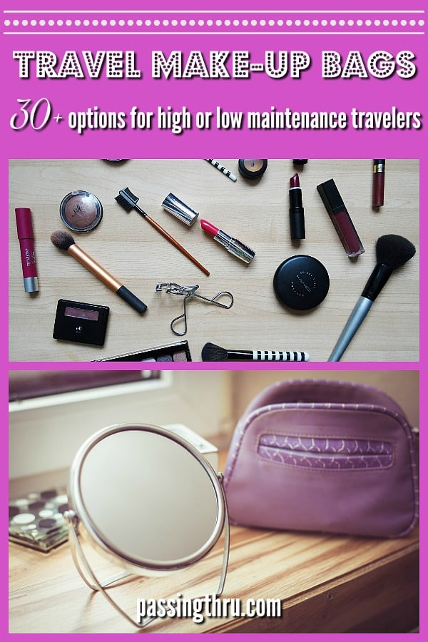 All travel cosmetic bags are definitely not created equal. We looked at different travel makeup bag and hanging cosmetic bag options in our roundup. These recommendations are based on our years of full time #travel. #luggage #packing #travelblogger