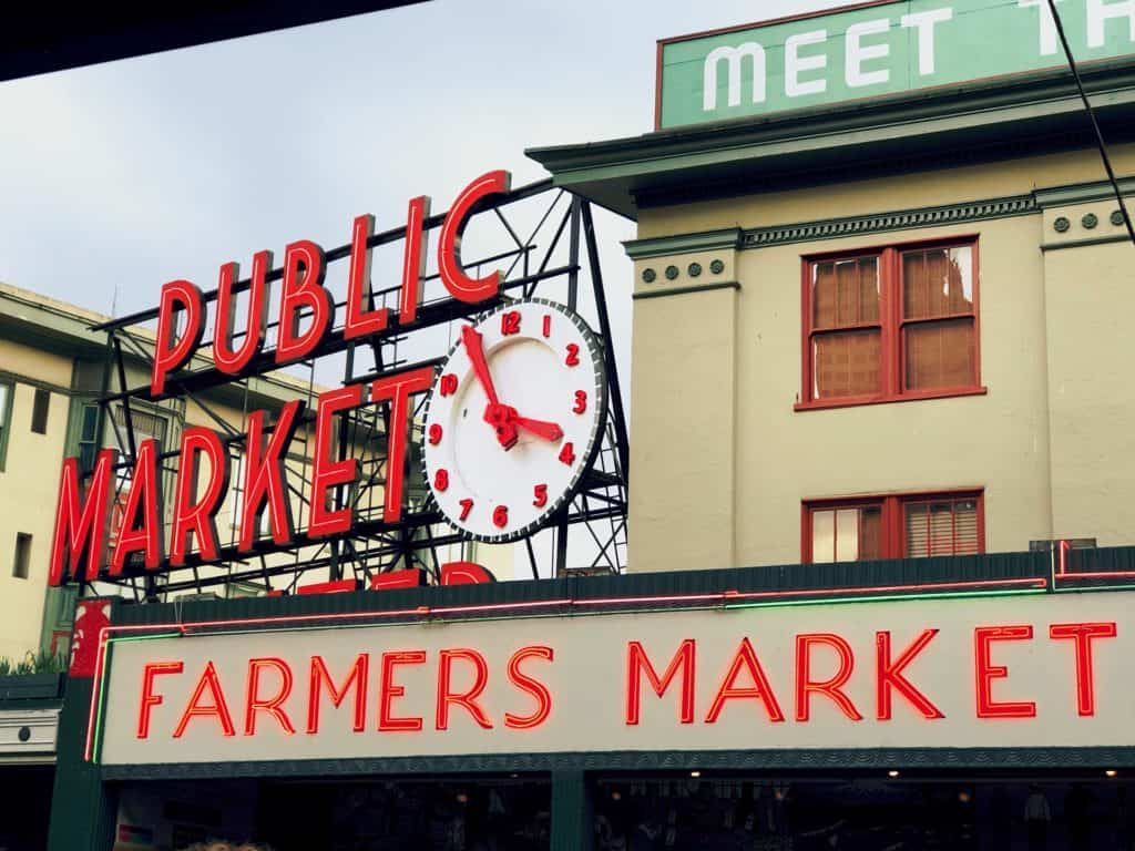 seattle's pike place market - day trip from vancouver