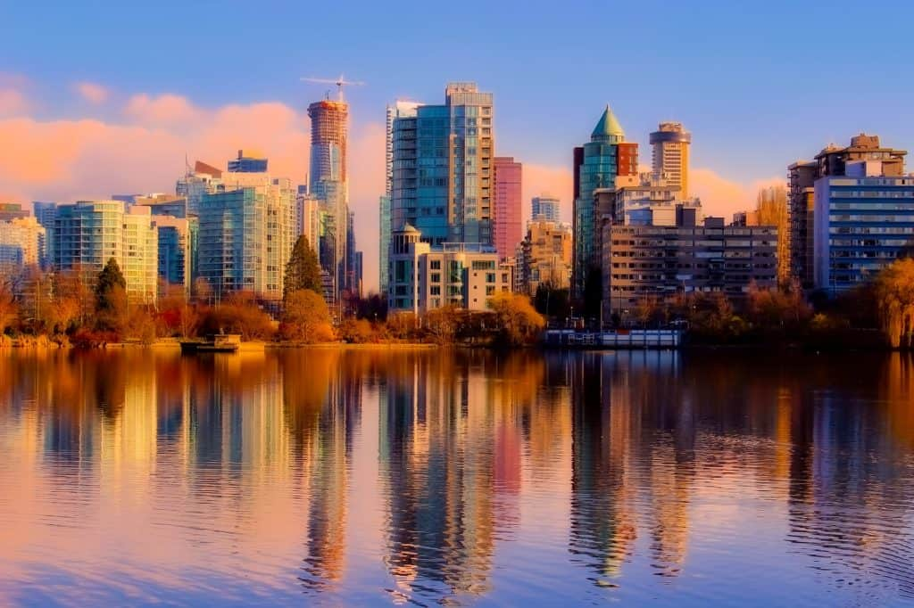 vancouver skyline in autumn - day trips from vancouver