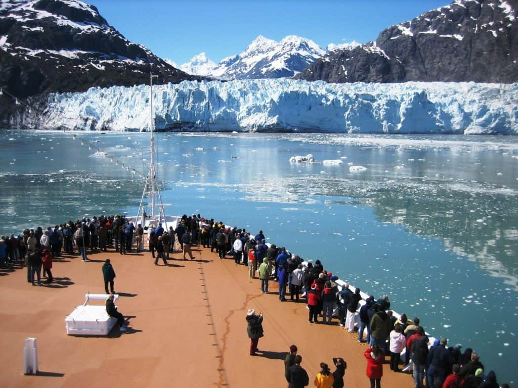 cruise ship deck glacier alaska