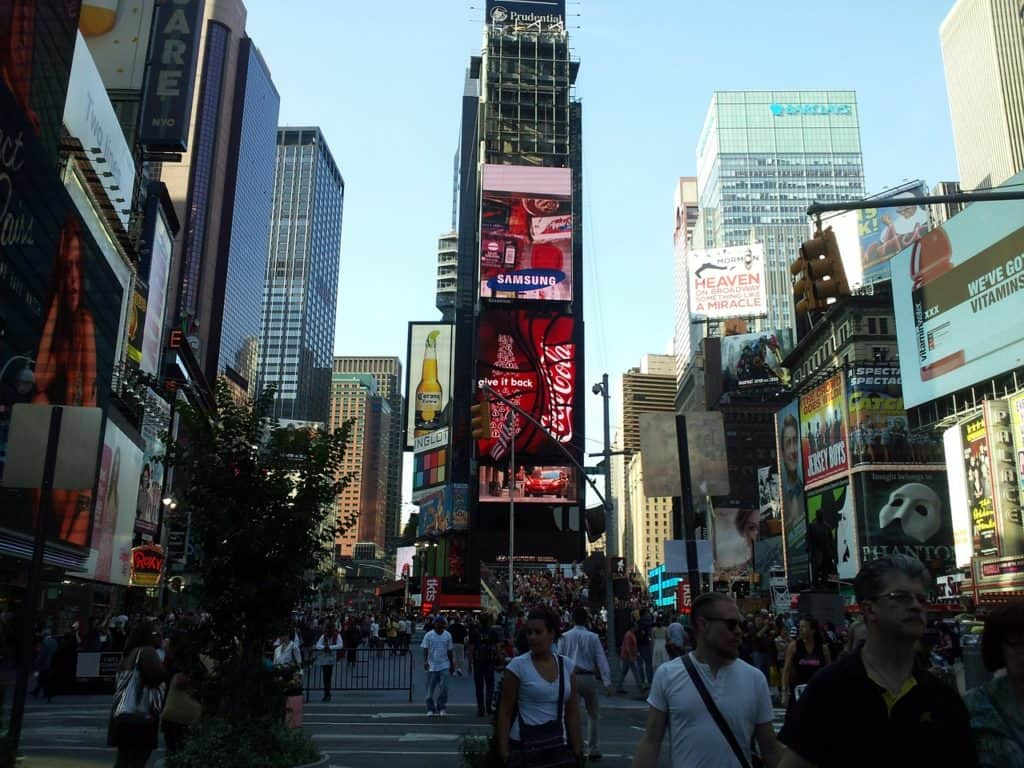 sightseeing on your weekend in New York City: Times Square
